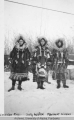 Three women in parkas