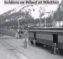 Soldier on wharf at Whittier.