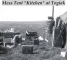 "Mess tent ""kitchen"" at Togiak."