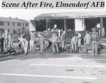 Scene after fire, Elmendorf AFB.