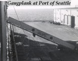 Gangplank at Port of Seattle.