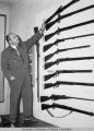 Otto Geist and a gun collection