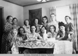 Women gathered at a party