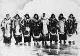 Women in Tanana in calfskin parkas.