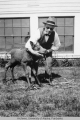 Dr. Charles Bunnell and his moose calf