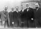 Group of men including Vice President Fairbanks