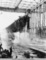 Launching the USS Alaska
