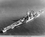 USS Alaska (CB-1) as seen from above.