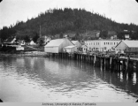 Wrangell wharf and village