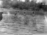 Five boys in Yukon River