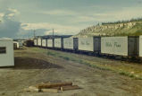 White Pass & Yukon Railroad freight cars.