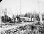 "T. M. R. R. train at the ""Junction"" between Fairbanks and Chena."