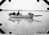 Jim Carse in his boat on the Yukon