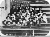 Stevens Village class photograph, Christmas 1912