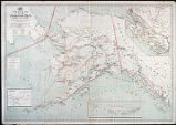 Post route map of the territory of Alaska, with the intermediate distances on mail routes, showing...