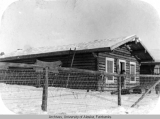 Proposed school in Stevens Village, [view 1] Theodore's cabin