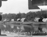 Indian fish camp, Yukon River