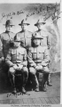 Group portrait of five soldiers
