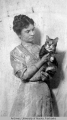 Mrs. Gasser and her pet cat