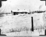 Winter view of Rivenburg residence in Rampart, Alaska