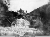Automatic dam in operation