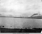 Lake along the White Pass & Yukon Railroad route