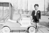 Joe Crosson Jr. with toy car.