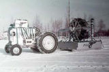 Tractor with an airplane engine.