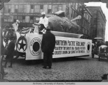 Float depicting Idaho baked potato
