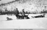 Dr. F. W. Herms DDS and Mr. Loussac on the Iditarod-Flat Creek Trail, 1912