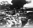 Marines during Japanese attack at Dutch Harbor.