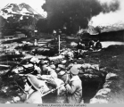 Marines during [Japanese] attack at Dutch Harbor.