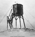 Weather tower in the Aleutians