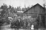 Fairbanks Station 1917. Mr. M. D. Snodgrass and three of his children.