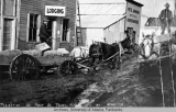 Freighting on Front St. in Ruby, Alaska.  Oct. 1911