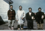 Four men at Mekoryuk, Nunivak Island