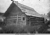1st log house of J. B. & Wm. Moore at Skagway, AK