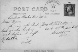 Back of postcard of the Portland