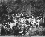 Y.M.C.A camera club at lunch on Burro Creek June 22, 1900