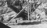 This is the fishwheel at old town of Chena, 1916.