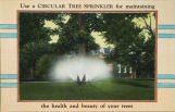 Use a circular tree sprinkler for maintaining the health and beauty of your trees.