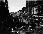 President Woodrow Wilson's reception on Second Avenue, Seattle, Washington.