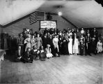 Moose April Fool's mask ball at Poorman, Ruby District, Alaska, 1916.