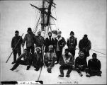 Crew of U.S.S. Bear. Taken at Point Barrow, Aug. 22, 1897.