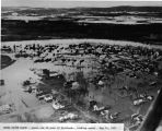 Chena River flood - lower end of town of Fairbanks, looking north - May 14, 1937.