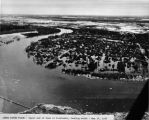 Chena River flood - upper end of town of Fairbanks, looking south - May 14, 1937.