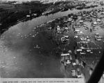 Chena River flood - looking east over lower end of town of Fairbanks - May 14, 1937.