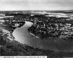 Chena River flood - town of Fairbanks, looking east - May 14, 1937.