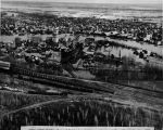 Chena River flood - town of Fairbanks, looking south across Chena River - May 14, 1937.