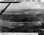 Chena River flood - aerial view of Fairbanks, looking south across Chena River, May 1948.